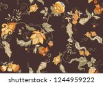 seamless pattern with stylized... | Shutterstock .eps vector #1244959222