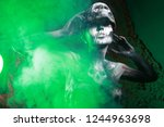 hot scary death bodyart woman... | Shutterstock . vector #1244963698