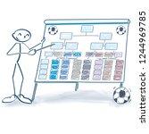 stick figure explains a soccer...   Shutterstock .eps vector #1244969785