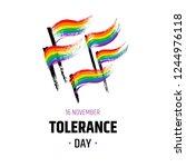 tolerance day logo. bright hand ...   Shutterstock .eps vector #1244976118