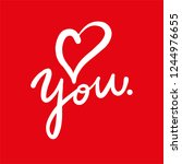 i love you hand drawn vector...   Shutterstock .eps vector #1244976655