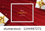 christmas frame with lots of... | Shutterstock .eps vector #1244987272