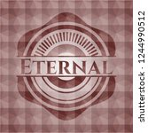 eternal red geometric badge.... | Shutterstock .eps vector #1244990512