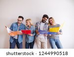 group of young people standing... | Shutterstock . vector #1244990518