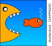 A Smiling Fish Escaping The...