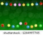 vector illustration of a chain... | Shutterstock .eps vector #1244997745