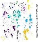 blood splatter   Shutterstock .eps vector #124499842