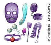 adults sex toys  accessories... | Shutterstock .eps vector #1245003952