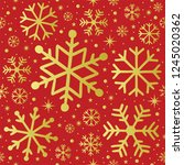 christmas seamless patern   red ... | Shutterstock .eps vector #1245020362