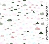 light silver  gray vector... | Shutterstock .eps vector #1245020458