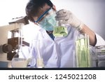 scientist with equipment and... | Shutterstock . vector #1245021208
