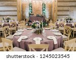 wedding banquet hall | Shutterstock . vector #1245023545