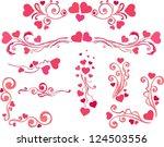 valentine elements   Shutterstock .eps vector #124503556