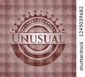 unusual red emblem or badge... | Shutterstock .eps vector #1245039682