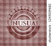 unusual red emblem or badge... | Shutterstock .eps vector #1245039682