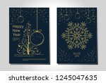 new year greeting card design... | Shutterstock .eps vector #1245047635
