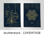 new year greeting card design... | Shutterstock .eps vector #1245047638
