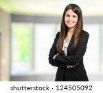 Stock photo beautiful businesswoman portrait 124505092