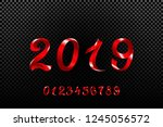raster copy red 2019 symbol ... | Shutterstock . vector #1245056572