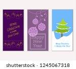 vector illustration of winter... | Shutterstock .eps vector #1245067318
