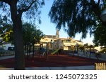 calvia.village of mallorca... | Shutterstock . vector #1245072325