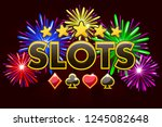 casino slots  banner on red...