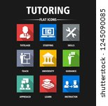 tutoring flat icon set | Shutterstock .eps vector #1245090085