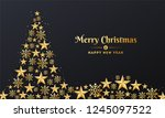 merry christmas and happy new... | Shutterstock .eps vector #1245097522