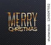 glossy golden lettering of... | Shutterstock .eps vector #1245097552