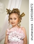 portrait of a child of the... | Shutterstock . vector #1245108472