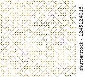 geometric golden foil seamless...   Shutterstock . vector #1245124315