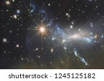 galaxy in outer space  beauty... | Shutterstock . vector #1245125182