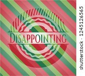 disappointing christmas badge. | Shutterstock .eps vector #1245126565