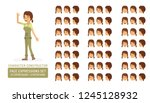 vector young adult woman in... | Shutterstock .eps vector #1245128932