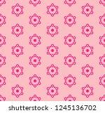 vector pink snowflakes texture. ...   Shutterstock .eps vector #1245136702