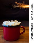 cup of coffee and hot chocolate ... | Shutterstock . vector #1245150808