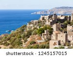 greece vatheia village.... | Shutterstock . vector #1245157015