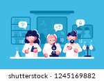 doctors working at researching... | Shutterstock .eps vector #1245169882