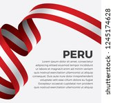 peru flag  vector illustration... | Shutterstock .eps vector #1245174628
