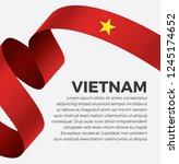 vietnam flag  vector... | Shutterstock .eps vector #1245174652