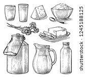collection items dairy products ... | Shutterstock .eps vector #1245188125