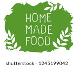home made food label and high...   Shutterstock .eps vector #1245199042