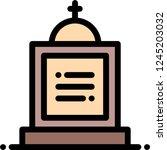 cemetery graveyard tombstone | Shutterstock .eps vector #1245203032