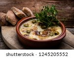 ratatouille baked in the oven... | Shutterstock . vector #1245205552