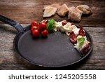 caprese appetizer with... | Shutterstock . vector #1245205558