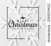 christmas greeting card.... | Shutterstock .eps vector #1245219412