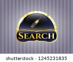 gold badge or emblem with... | Shutterstock .eps vector #1245231835