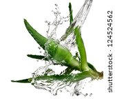 Small photo of Aloe vera water splash
