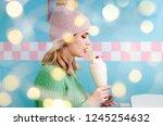 portrait of a lovely girl in... | Shutterstock . vector #1245254632
