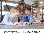 little children businessmen...   Shutterstock . vector #1245255835